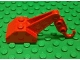 Part No: 3135c04  Name: Hook Slope 45 2 x 3 x 1 1/3 Double with Arm and Red Tow Hook