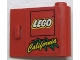 Part No: 3188pb004  Name: Door 1 x 3 x 2 Right with LEGO Logo and Yellow 'California' Pattern (Sticker) - Set 3442