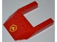 Part No: 32084pb005  Name: Wedge 6 x 8 Cutout with Yellow and Red Fire Logo Badge Pattern (Sticker) - Set 4430