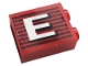 Part No: 3245cpb144R  Name: Brick 1 x 2 x 2 with Inside Stud Holder with Gray Stripes and White Capital Letter E Pattern Model Right Side (Sticker) - Set 10272