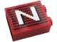 Part No: 3245cpb145R  Name: Brick 1 x 2 x 2 with Inside Stud Holder with Gray Stripes and White Capital Letter N Pattern Model Right Side (Sticker) - Set 10272