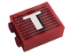 Part No: 3245cpb146L  Name: Brick 1 x 2 x 2 with Inside Stud Holder with Gray Stripes and White Capital Letter T Pattern Model Left Side (Sticker) - Set 10272