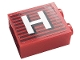 Part No: 3245cpb149  Name: Brick 1 x 2 x 2 with Inside Stud Holder with Gray Stripes and White Capital Letter H Pattern (Sticker) - Set 10272