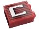 Part No: 3245cpb153  Name: Brick 1 x 2 x 2 with Inside Stud Holder with Gray Stripes and White Capital Letter C Pattern (Sticker) - Set 10272