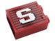 Part No: 3245cpb154  Name: Brick 1 x 2 x 2 with Inside Stud Holder with Gray Stripes and White Capital Letter S Pattern (Sticker) - Set 10272