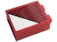 Part No: 3245cpb161  Name: Brick 1 x 2 x 2 with Inside Stud Holder with Gray Stripes and White Triangle Pattern (Sticker) - Set 10272