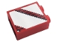 Part No: 3245cpb162  Name: Brick 1 x 2 x 2 with Inside Stud Holder with Gray and White Stripes Pattern (Sticker) - Set 10272