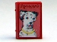 Part No: 33009pb033  Name: Minifigure, Utensil Book 2 x 3 with Dog Dalmatian Pattern (Stickers) - Set 3205