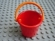 Part No: 33178c02  Name: Scala Utensil Bucket Round with Orange Scala Handle for Basket / Bucket (33178 / bb972)