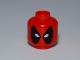 Part No: 3626cpb0703  Name: Minifigure, Head Male Mask Black with White Eye Holes Pattern (Deadpool) - Hollow Stud
