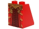 Part No: 3678bpb076  Name: Slope 65 2 x 2 x 2 with Bottom Tube with Robe, Dark Red Armor and Gold Belt, Chains and Pendants Pattern