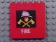 Part No: 3754pb18  Name: Brick 1 x 6 x 5 with Fire Logo and White 'FIRE' Pattern (Stickers) - Set 7240