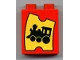 Part No: 4066pb110  Name: Duplo, Brick 1 x 2 x 2 with Train Ticket Pattern