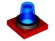 Part No: 41195c03  Name: Duplo Revolving-Style Safety Light Base with Trans-Dark Blue Light