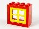 Part No: 4132c02  Name: Window 2 x 4 x 3 Frame with Yellow Window 2 x 4 x 3 Pane (4132 / 4133)