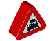 Part No: 42025pb06  Name: Duplo, Brick 1 x 3 x 2 Triangle Road Sign with Steam Engine Pattern