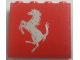 Part No: 4215bpb57R  Name: Panel 1 x 4 x 3 - Hollow Studs with Ferrari Silver Horse on Red Background Pattern, Model Right (Sticker) - Sets 8153 / 8155