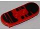 Part No: 42511pb10  Name: Minifigure, Utensil Skateboard with Trolley Wheel Holders with Black Zebra Stripes Pattern (Sticker) - Set 79103
