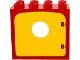 Part No: 4253c06  Name: Duplo Door Frame Flat Front Surface with Yellow Duplo Door / Window with Porthole (4253 / dupdoor1)