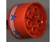 Part No: 4266pb01  Name: Wheel 20 x 30 Technic with 3 White Stripes and 7 Blue Stars Pattern (Sticker) - Set 6615