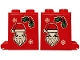Part No: 4345pb07  Name: Container, Box 2 x 2 x 2 with Santa, 2 Snowflakes and Holly Pattern on Both Sides (Stickers) - Set 40353