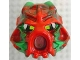 Part No: 43853posb  Name: Bionicle Mask Hau Nuva Poisoned - Red Forehead
