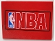 Part No: 4515pb016  Name: Slope 10 6 x 8 with NBA Logo Red Pattern (Sticker) - Sets 3432 / 3433