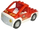 Part No: 47438c04pb01  Name: Duplo Truck Pickup Flatbed with White Base with Fire Department Logo Pattern