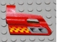 Part No: 47712pb04  Name: Technic, Panel Fairing #24 Small Short, Small Hole, Side B with Air Vents and Orange Checkered Racing Pattern (Set 8650)