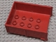 Part No: 4821a  Name: Duplo Trailer Bed with 8 Studs without Back Sill