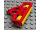 Part No: 4828c02  Name: Duplo Farm Plow Type 1, Roller Holder with Yellow Duplo Farm Plow Type 1, Roller Attachment, Smooth (4828 / 31035)