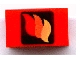 Part No: 4865pb004  Name: Panel 1 x 2 x 1 with Classic Fire Logo Pattern