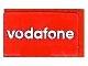 Part No: 4865pb030  Name: Panel 1 x 2 x 1 with 'vodafone' Pattern (Sticker) - Set 8362