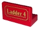 Part No: 4865pb081  Name: Panel 1 x 2 x 1 with Gold 'Ladder 4' on Red Background Pattern (Sticker) - Set 10263