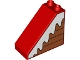Part No: 49570pb01R  Name: Duplo, Brick 4 x 2 x 3 Slope with Snow on Boards Pattern Model Right Side
