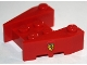 Part No: 50373pb04  Name: Wedge 3 x 4 with Stud Notches with Ferrari Logo Narrow Pattern on Both Sides (Stickers)