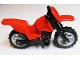 Part No: 50860c11  Name: Motorcycle Dirt Bike with Black Chassis (Long Fairing Mounts) and Light Bluish Gray Wheels