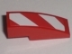 Part No: 50950pb009R  Name: Slope, Curved 3 x 1 No Studs with Red and White Danger Stripes Pattern Right (Sticker)