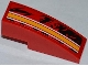 Part No: 50950pb058R  Name: Slope, Curved 3 x 1 with Orange and White Lines Pattern Model Right Side (Sticker) - Set 9092