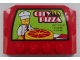 Part No: 52031pb061  Name: Wedge 4 x 6 x 2/3 Triple Curved with Chef and 'CITY PIZZA' and Open Hours Pattern (Sticker) - Set 60026