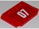 Part No: 52031pb097  Name: Wedge 4 x 6 x 2/3 Triple Curved with White '07' on Red Background Pattern (Sticker) - Set 60107