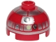 Part No: 553pb034  Name: Brick, Round 2 x 2 Dome Top with Silver Band around Dome, Lime Dot Pattern (Astromech Droid)