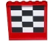 Part No: 59349pb101  Name: Panel 1 x 6 x 5 with Black and White Checkered Pattern on Inside (Sticker) - Set 75875