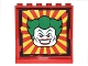 Part No: 59349pb119  Name: Panel 1 x 6 x 5 with Red and Yellow Perspective View and The Joker Head Pattern (Sticker) - Set 6857