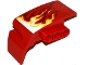Part No: 61070pb006  Name: Technic, Panel Car Mudguard Right with White, Yellow and Dark Red Flames Pattern (Sticker) - Set 70727