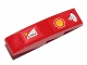 Part No: 61678pb070L  Name: Slope, Curved 4 x 1 with Shell and Scuderia Ferrari Logos Pattern Model Left Side (Stickers) - Set 30190