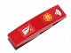 Part No: 61678pb070R  Name: Slope, Curved 4 x 1 with Shell and Scuderia Ferrari Logos Pattern Model Right Side (Stickers) - Set 30190
