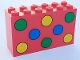Part No: 6213p02  Name: Brick 2 x 6 x 3 with Green, Yellow and Blue Dots Pattern