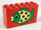 Part No: 6213pb06  Name: Brick 2 x 6 x 3 with Green and Yellow Fish Pattern