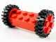 Part No: 6249c01  Name: Brick, Modified 2 x 4 with Pins with 2 Red Wheel FreeStyle with Technic Pin Hole and 2 Black Tire 24mm D. x 8mm Offset Tread (6249 / 6248 / 3483)